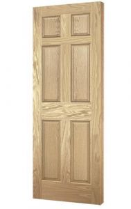 Solid Carved Colonial Door