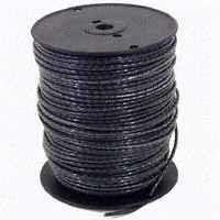 Southwire 4BK-STRX500 Stranded Building Wire, 4 AWG, 500 ft L, Black Nylon Sheath
