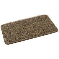 GrassWorx Clean Machine 10372031 Door Mat, Medium Flair Surface Pattern, 30 in L, 18 in W, Earth Taupe