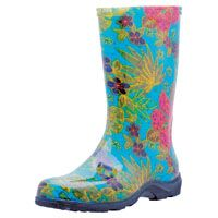 Sloggers 5002BL08 Rain and Garden Boots, 8 in, Blue