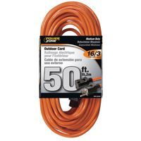 CORD EXT OUTDOOR 16/3X50FT ORG
