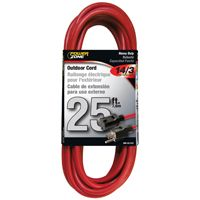 CORD EXT RED 14/3X25FT