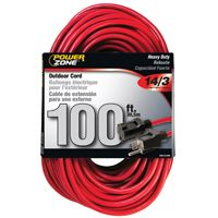 CORD EXT14/3X100FT RED