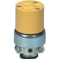 CONNECTOR GROUNDG YEL 15A 125V
