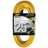 CORD EXT OUTDOOR 12/3X25FT YEL