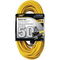 CORD EXT OUTDOOR 12/3X50FT YEL