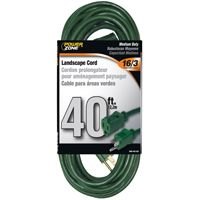 CORD EXT OUTDOOR 16/3X40FT GRN