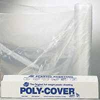 POLY FILM 10X100FT 4MIL CLEAR