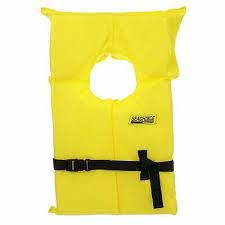 Yellow Adult Life Vest With Bag