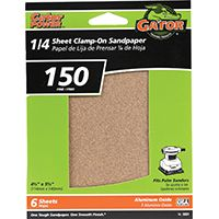 150GRIT ALUM OX 1/4 SHEET 6PK