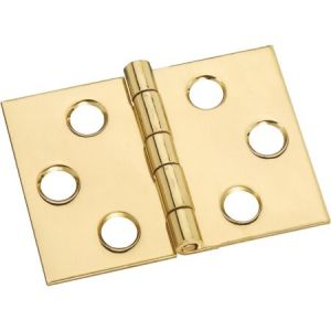 National Hardware N211-870 Desk Hinge, 5 lb Weight Capacity, Brass