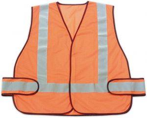 Orange Safety Vest Reflection