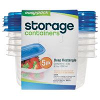 FOOD CONT RECTANGLE 5PK