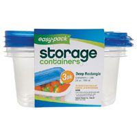 FOOD STOR CONT RECTANGLE 3PK