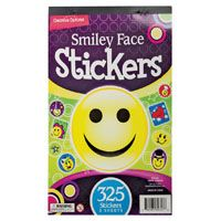 STICKER SMILEY FACE ASST BOX