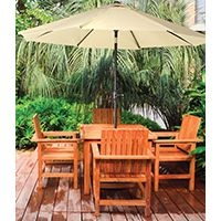 Seasonal Trends Market Crank Umbrella, 55.1 In L X 5-1/21 In W X 5-1/21 In H, Taupe