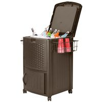 COOLER W/CABINET RESIN WICKER