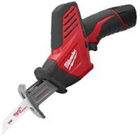 Milwaukee 2420-21 Reciprocating Saw Kit, 12 V Battery, Lithium-Ion Battery, 1/2 in L Stroke, Black/Red