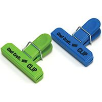 Chef Craft 21806 Bag Clip Set, Blue/Green, 2