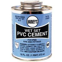 PVC CEMENT WET SET BLUE 16OZ
