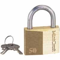 PADLOCK BRASS 1-1/16W SHACKLE