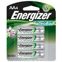 Energizer NH15BP-4 Rechargeable Battery, AA, Nickel-Metal Hydride, 1.2 V