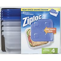 CONTAINER SQUARE ZIPLOC 24OZ