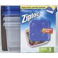 CONTAINER SQUARE ZIPLOC 32OZ