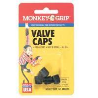 VALVE CAP BLACK PLASTIC