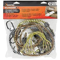 CORD BUNGEE ASSORTED 12PK