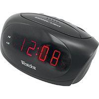 CLOCK ALARM LED BLACK .6IN