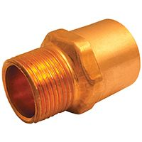 EPC 104R Series 30316 Reducing Adapter, 1/2 in, 3/4 in, Sweat, MNPT