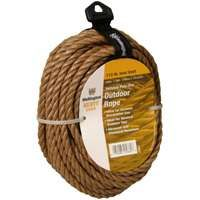 Wellington 25662 Rope, 173 lb Working Load Limit, 50 ft L, 3/8 in Dia, Polypropylene