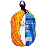 Wellington 30646 Rope, 135 lb Working Load Limit, 50 ft L, 3/8 in Dia, Polypropylene