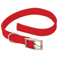 COLLAR NYLON 2PLY RED 1X22IN
