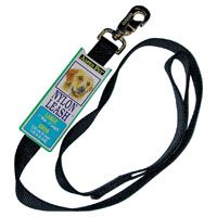 LEASHES SGL NYL BLK 1INX4FT