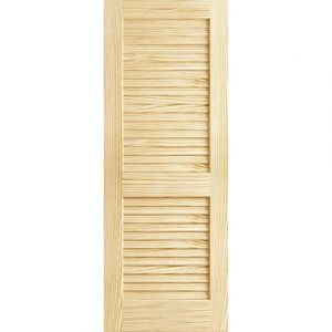 Plantation Louver Door Pine