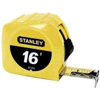 STANLEY 30-495 Measuring Tape, 16 ft L x 3/4 in W Blade, Steel Blade, Yellow