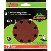 5IN 60GRIT 8HOLE HK/LOOP 15PK