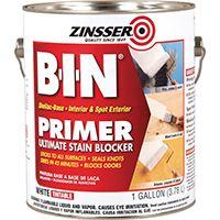 ZINSSER B-I-N 00901 Interior/Exterior Shellac-Base Primer, White, 1 gal