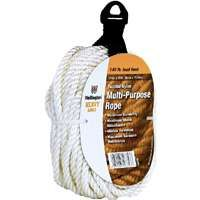Wellington 16356 Rope, 136 lb Working Load Limit, 50 ft L, 1/4 in Dia, Nylon