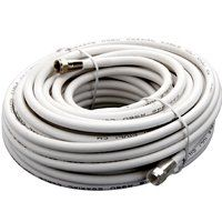 CABLE COAX RG6/F CONN 50FT WHT