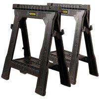 STANLEY FATMAX 060864R Folding Sawhorse, 1000 lb Weight Capacity, Plastic