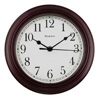 CLOCK WALL RND BURGUNDY 8.5IN