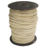 Southwire 2WHT-STRX500 Stranded Building Wire, 2 AWG, 500 ft L, White Nylon Sheath