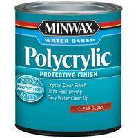 FINISH PLYCRYLC WTR GLO 1/2PT
