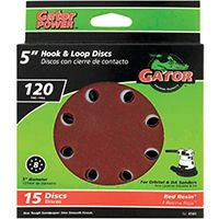 5IN 120GRIT 8HOLE HK/LOOP 15PK