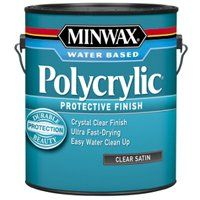 Minwax Polycrylic 13333000 Protective Finish Paint, Crystal Clear, 1 gal Can