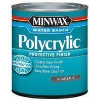 Minwax Polycrylic 63333444 Protective Finish Paint, Crystal Clear, 1 qt Can