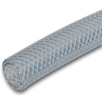UDP T12 Series T12005005/RBVNL Braided Tubing, 75 ft L, Clear